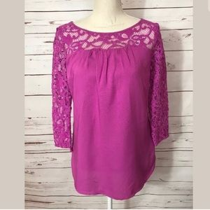 Old Navy Maternity Pink Lace Small Blouse